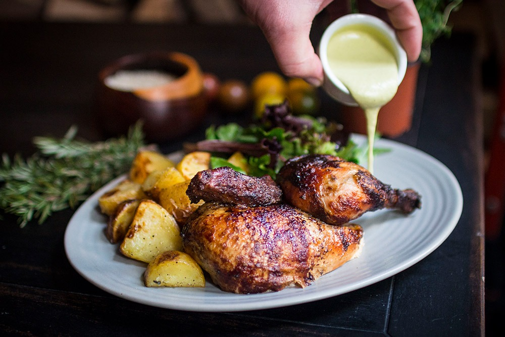 Woodfired Chicken and Potatoes